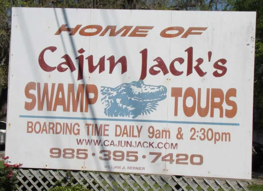 Home of Cajun Jack's Swamp Tours, Patterson, Louisiana
