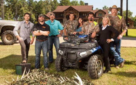 "The Busbice family on the reality TV proram ""Country Bucks"""