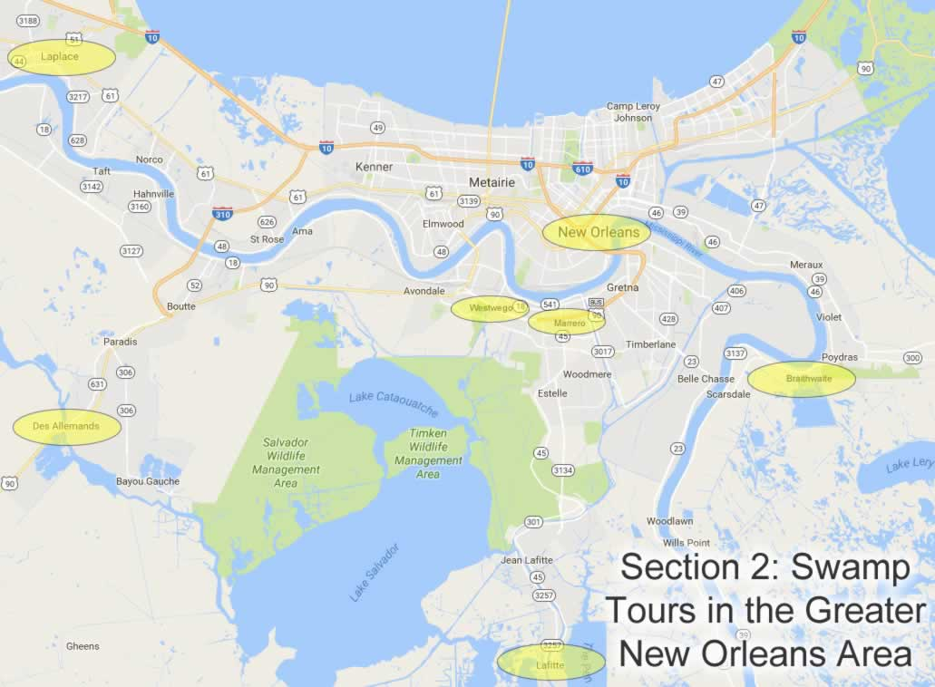 Swamp Tours New Orleans Area