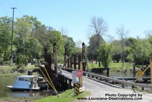 Pontoon Bridge connecting Henderson with Butte LaRose, Louisiana