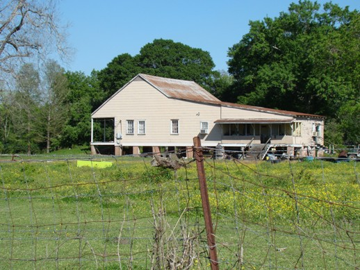 Home in Labadieville, Louisiana, along the banks of Bayou Lafourche