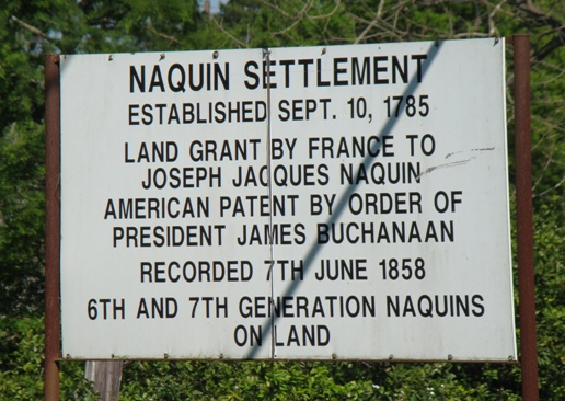 Naquin Settlement, estabished September 10, 1785. Land grant by France to Joseph Jacques Naquin, Labadieville, Louisiana