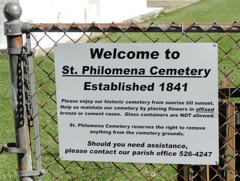 Welcome to St. Philomena Cemetery, established 1841