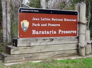 The Barataria Preserve and Jean Lafitte National Historical Park near New Orleans, a popular area for swamp tours