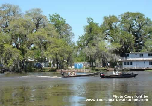 A great day for boating in Pierre Part, Louisiana