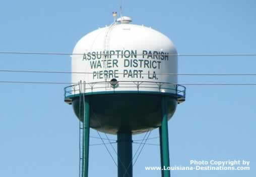 Assumption Parish Water District water tower in Pierre Part, LA