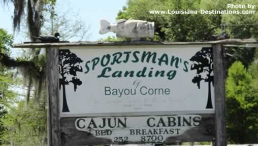 Sign at Sportsman's Landing of Bayou Corne near Pierre Part, Louisiana