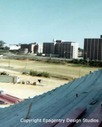 Tech Stadium, Ruston, Louisiana, during final stages of construction in 1968