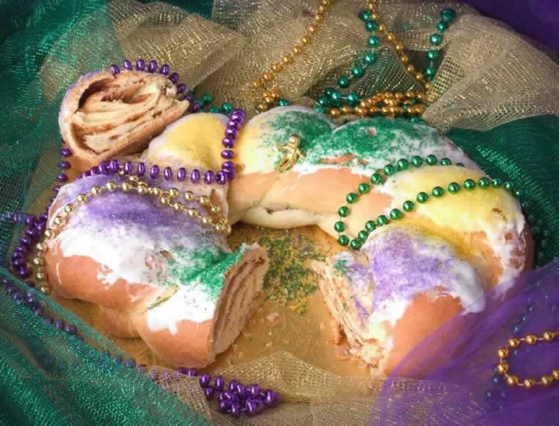 It's just not Mardi Gras without a king cake!