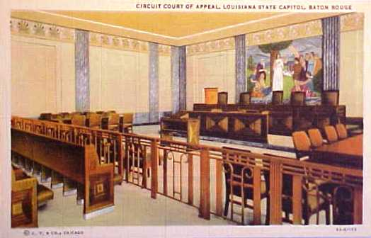 Circuit Court of Appeal, Louisiana State Capitol, Baton Rouge