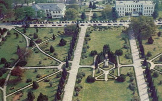 Later view of the Louisiana Capitol Grounds, Baton Rouge, from the top of the capitol looking south