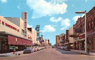 Ryan Street, Lake Charles, Louisiana ... Downtown, 1950s