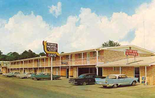 Redwood Motel and Cafe, Leesville, Louisiana ... circa 1960s