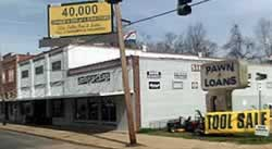 Silver Dollar Pawn & Jewelry Center on Lee Street in Alexandria Louisiana, site of the filming of Cajun Pawn Stars