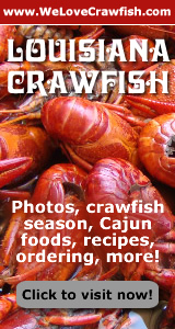 Hot, boiled crawfish ... a South Louisiana tradition! ... click for photos, recipe, online ordering sources and more ... at WeLoveCrawfish.com